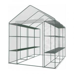Serre de Jardin - Avec étagères - 4,46 m2 - GREEN ROOF