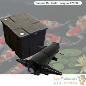 Le Poisson Qui Jardine - Filtre + UV 24W Bassin de Jardin jusqu'à 12000 Litres