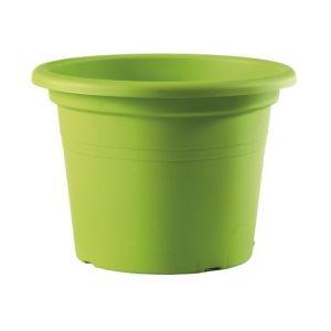Pot cylindre Basic - cèdre - D : 30 cm - TERAPLAST