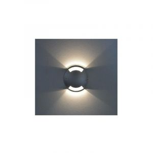 Spot LED Balise 1W (9W) IP67 12 VDC Blanc neutre 4000°K Rond Ø70 2 diffuseurs