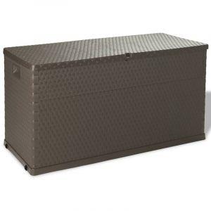 Boîte de rangement de jardin Marron 120x56x63 cm - VIDAXL