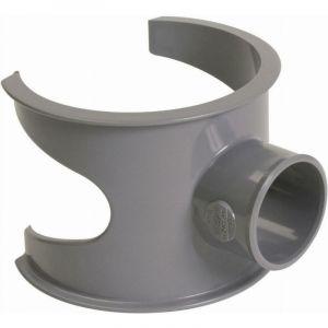 Selle de branchement 90° PVC pour tube d'évacuation gris - Ø 100/32 mm - SL103 - Nicoll