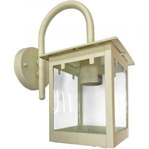 Harms - Éclairage extérieur lanterne applique murale lampe verre clair spot lumière crème blanc 103143