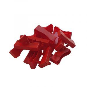Lot de 20 embouts rouge pour lattes de 68 x 8 mm