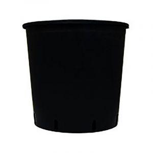 Pot rond plastique noir - 18.5L - 30x30cm - CIS