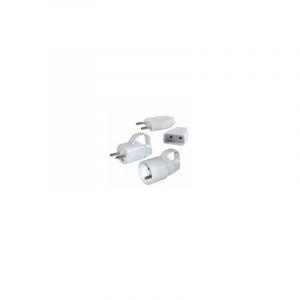 Fiches electriques plates et rondes étiquette cavalier fiche plate femelle 2 pôles 6a - BRICOTOP-AXIAN