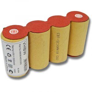 vhbw NiMH batterie 3000mAh (4.8V) pour balai électrique Home Cleaner robots domestiques Kärcher K50, K85