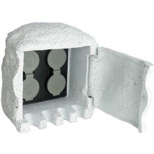 Borne électrique de jardin imitation pierre avec télécommande - VIDAXL