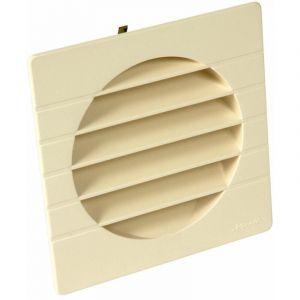 Grille de ventilation extérieures coloris sable Ø 125 mm - spéciale façade - GETM pour tubes PVC et gaines - NICOLL