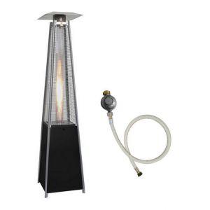 Parasol chauffant 13 KW FLAMME PYRAMIDAL Chauffage exterieur detendeur et tuyau gaz - PROWELTEK