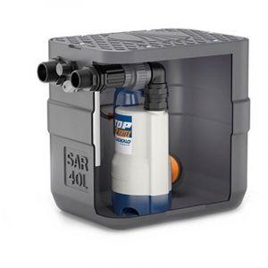Station de relevage 40L Pedrollo SAR40TOP1 - Pompe a eau 0,25 kW jusqu'à 8,4 m3/h monophasé 220V