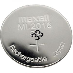 Pile bouton rechargeable lithium 3 V Maxell ML2016 25 mAh 1 pc(s)