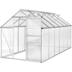 Serre de Jardin Polycarbonate 6,93 m² + Lucarnes - TECTAKE