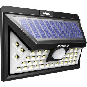 Projecteur led spot solaire mural avec detecteur de mouvement extérieur - TECHBOX