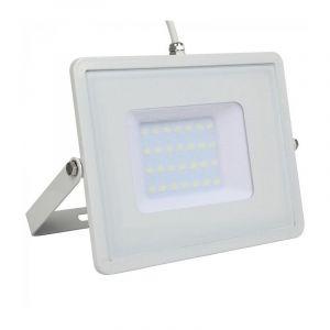 V-TAC PRO VT-30 Projecteur LED 30W slim blanc Chip Samsung SMD blanc neutre 4000K - SKU 404