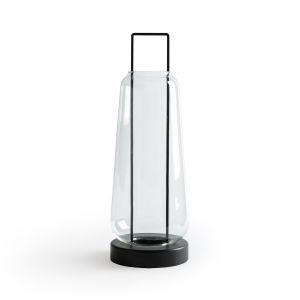 Lanterne verre et métal H53 cm, Yoroko Transparent - Taille Taille Unique