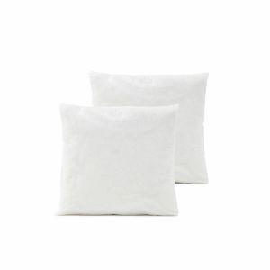 Lot de 2 coussins de garnissage synthétique, In Blanc - Taille 50x50 cm;40x40 cm;45x45 cm;65x65 cm;50x30 cm
