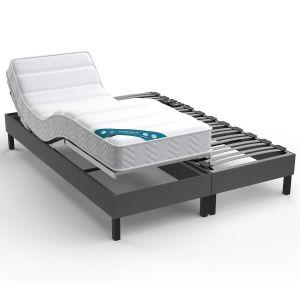 Sommier de relaxation tapissier électrique Gris Moyen - Taille 2x90x200 cm;2x80x200cm;2x70x190cm;90x190 cm
