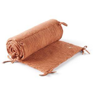 Tour de lit en gaze de coton biologique, Cuddly Noix De Pécan - Taille Taille Unique