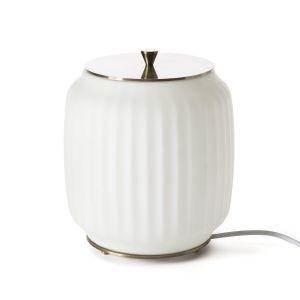 Lampe à poser opaline Canelé Opaline - Taille Taille Unique