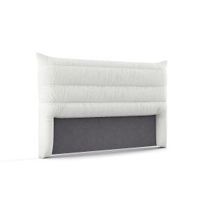 Tête de lit à housser H130 cm, Mereson Blanc - Taille 140 cm;160 cm;180 cm