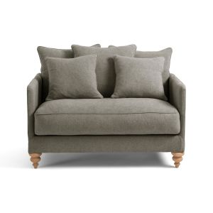 Canapé LAZARE 2 pl Convertible Lin stonewashed Ecorce - Taille 2 Places