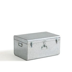 Malle cantine en métal, Masa Galva Intérieur Corail - Taille Taille Unique