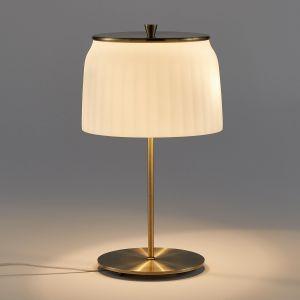 Lampe sur pied opaline Canelé Opaline - Taille Taille Unique
