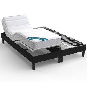 Sommier de relaxation tapissier électrique Gris Anthracite - Taille 2x90x200 cm;2x80x200cm;2x70x190cm;90x190 cm
