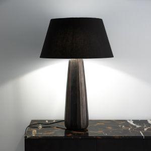 Lampe à poser métal gravé Lotka Bronze Vieilli - Taille Taille Unique