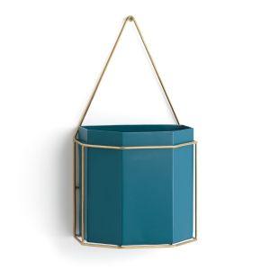 Cache-pot mural métal, Uyova Bleu Canard - Taille Taille Unique