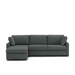 Canapé d'angle lit convertible, coton,Timor Gris Anthracite - Taille Angle réversible