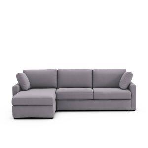 Canapé d'angle lit convertible, coton,Timor Gris Clair - Taille Angle réversible