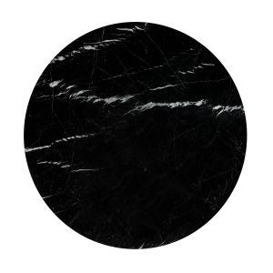 Plateau de table marbre Ø120 cm, Aradan Marbre Noir - Taille 6 pers