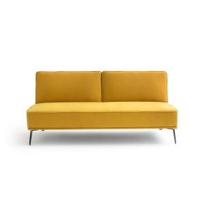 Banquette convertible, polyester, VEES Jaune Moutarde - Taille 3 Places