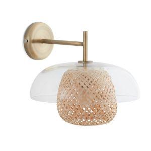 Applique verre et bambou, Madeline Transparent - Taille Taille Unique