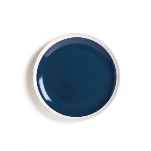 Lot 4 assiettes dessert en grès, DEONIE Bleu - Taille Taille Unique