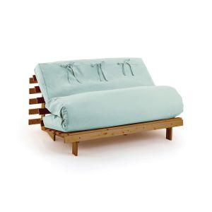 Housse futon unie Céladon - Taille 160x200 cm;140x190 cm;90x190 cm