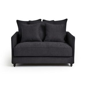 Canapé Lazare 2 pl convertible viscose polyester Anthracite - Taille 2 Places