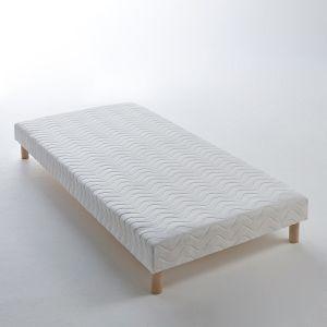 Sommier tapissier à lattes recouvertes Blanc - Taille 160x200cm;90x190 cm;2x90x200 cm;2x80x200cm;140x190cm