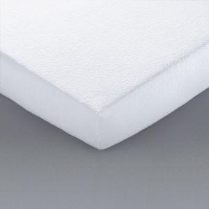 Protège-matelas éponge traitée BI-OME Blanc - Taille 60x120 cm;80x190 cm;90x190 cm;140x190cm;160x200cm