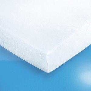 Protège-matelas housse en éponge extensible Blanc - Taille 160x200cm;140x190cm;90x190 cm