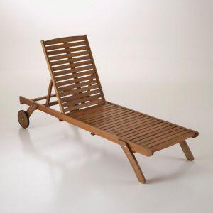 Bain de soleil, chaise longue, eucalyptus Bois Clair Eucalyptus - Taille Taille Unique