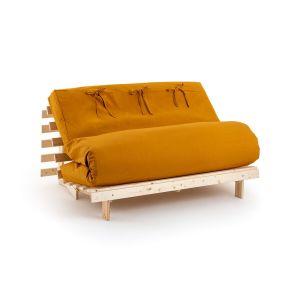 Housse futon unie Ocre - Taille 160x200 cm;140x190 cm;90x190 cm