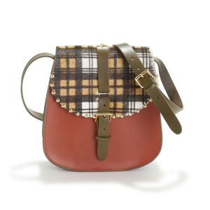Sac besace à rabat tartan SAB ROCK MEDIUM TARTAN Multicolore - Taille Taille Unique