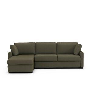 Canapé d'angle lit, coton, bultex, Timor Marron Taupe - Taille Angle réversible