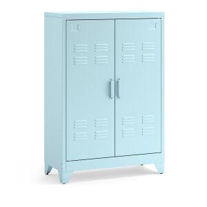 Armoire, vestiaire, métal, spécial soupente, Hiba Bleu - Taille Taille Unique
