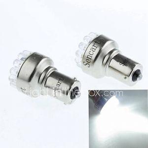 BAU15S (1056 PY21W) 1s 19led 90-120lm 6500-7500k des feux de recul blancs (DC12V / a 2pcs)