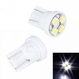 Merdia 4W 110LM T10 4x3528SMD LED lumière blanche de plaque d'immatriculation / Instrument lampe (2 PCS/12V)