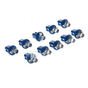B8.5D 1-LED 10-20LM Bleu Ampoule LED pour la voiture (12V, x10)